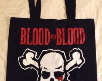BLOOD For BLOOD tote bag