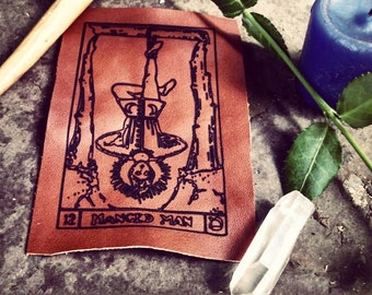 The Hanged Man Tarot Leather Patch
