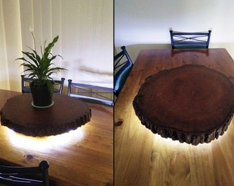 60cm Liquidambar Lazy Susan with live edge