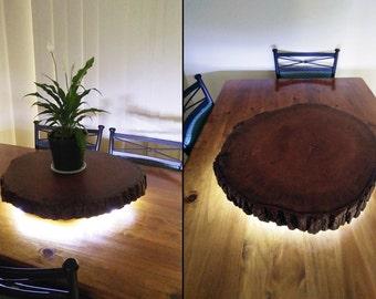 60cm liquidambar lazy susan with live edge