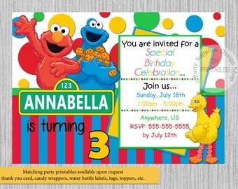 Elmo Invitations Etsy - Elmo ecard birthday invitation