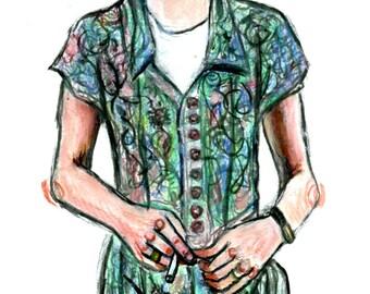 Kurt Cobain Art Print