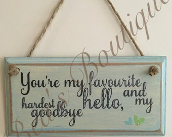 Hanging Quote Plaque
