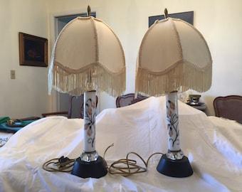 Vintage 1950s Boudoir Lamps