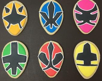 Power Ranger Samurai Sugar Cookies
