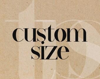 Custom Size/Format