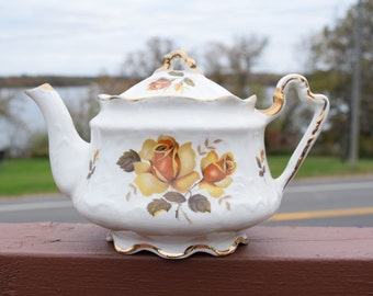 Vintage English Ceramic Teapot by Arthur Wood/ Vintage Tea Kettle/