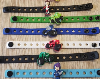 10  Monster Truck Silicone Bracelets Party Favors