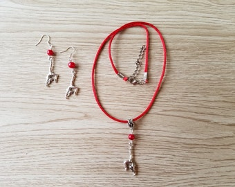 Gymnast. Necklace and earrings Set