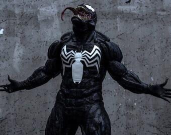 VENOM MUSCLE SUIT Black Spiderman Costume