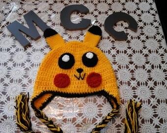 Items Similar To Pokemon Pikachu Yellow Crochet Beanie Ear