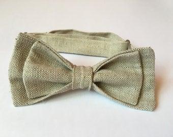 Handmade Linen Bow Tie