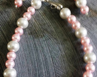 Pink and White Pearl Set