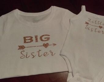 Big Sister Little sister matching shirts