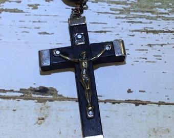 Vintage Italian Wood Rosary