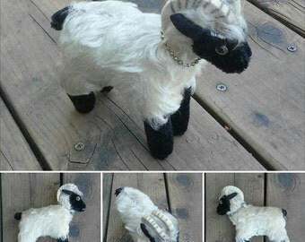 Vintage Steiff Mountian Goat, Stuffed Toy Sheep, Snucki, Mohair