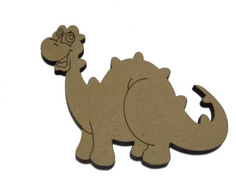 10 *Happy Dinosaur Shapes  4cm - 10cm , Option To Have With Or Without Hanging Hole