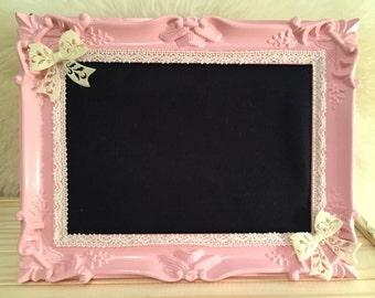 Candy Pink chalkboard frame