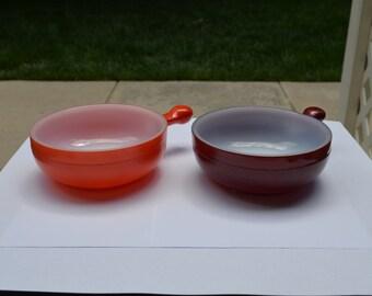 Glasbake Handled Soup Bowl