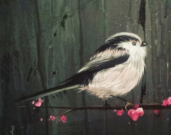 blossom and long tailed tits