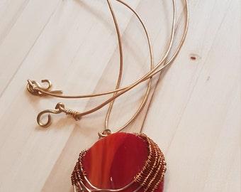 Red circle jewelry