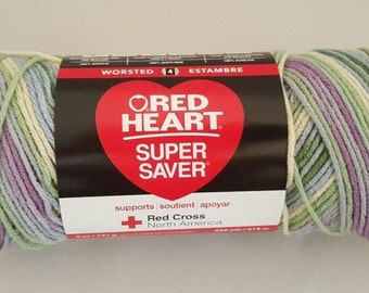 Red Heart Super Saver WATERCOLOR 5 oz Weight Medium 4