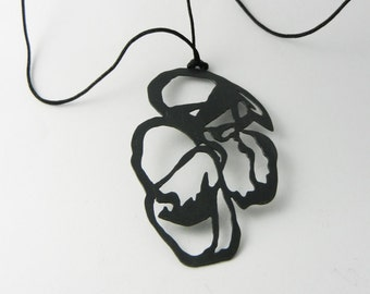Necklace in 925 / - sterling silver blacked