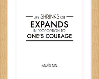 Fine Art Printed Anaïs Nin Quote
