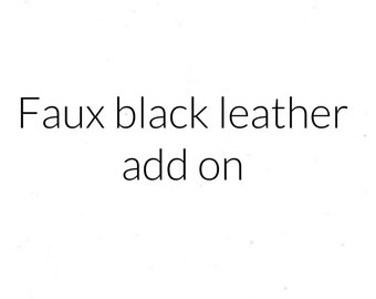 Faux Black Leather Sole (ADD ON)