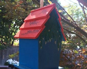 Home Sweet Home - Birdhouse || wooden birdhouse || hand-painted || maison oiseaux
