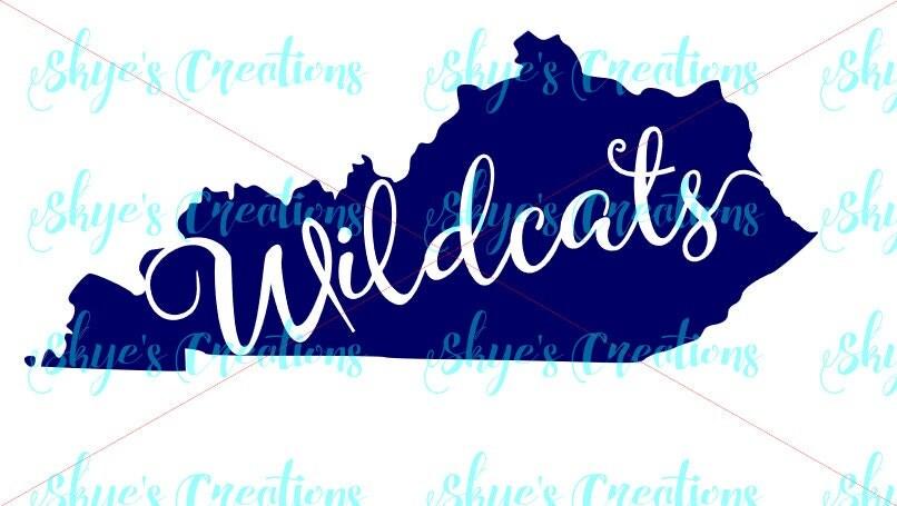 Uk Basketball Clip Art: Kentucky Wildcats Svg Ky State Outline