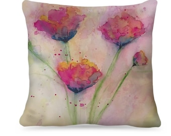 "Designer Watercolor Pillow ""Marian"" Home Decor"