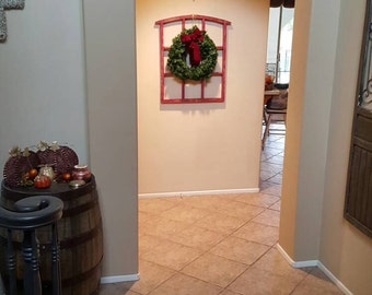 My popular medium frame done up for the Holiday in barn red. 27 by 35 inches.