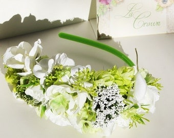 Light green flower hair accessories