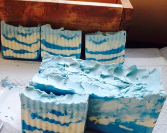 Serene Sea cold process , handmade bar soap. A must have for Summer!