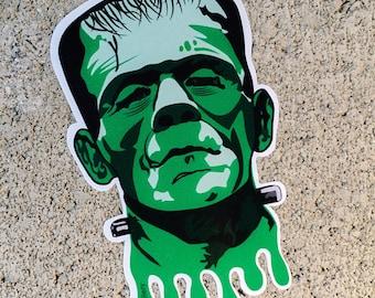 """Frankenstein's Monster Contour Cut 4"""" Vinyl Sticker"""