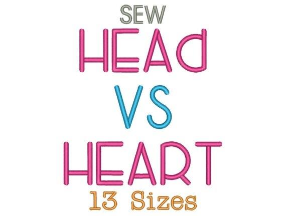 Head vs heart embroidery font size monogram fonts sew