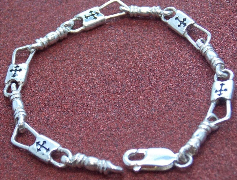 acts bracelet fishers of sterling silver regular link