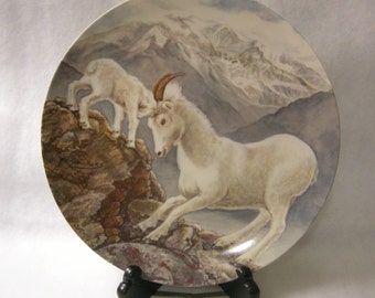 Billy Goat with Kid Decorative Plate