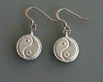 LOVEbomb Yin Yang Earrings (03) with sterling silver hooks