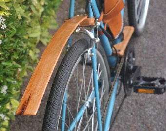Rear Bicycle hardwood fenders / mudguards