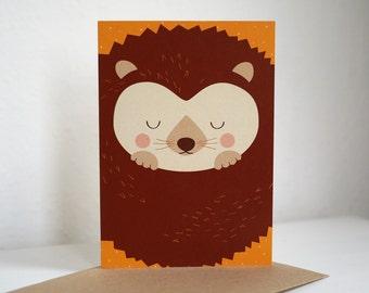 Greeting card greeting card HEDGEHOG