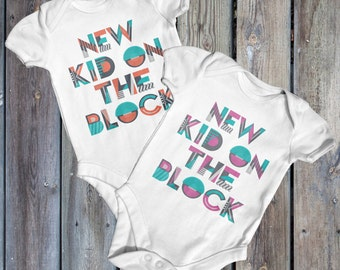 New Kid On The Block Baby Bodysuit | Funny Baby Bodysuit | Music Baby Bodysuit | Baby Shower Gift | Cute Baby Clothes | 90's Baby | Newborn