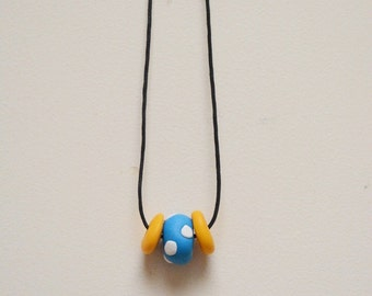 Yellow and Blue Spotty Necklace
