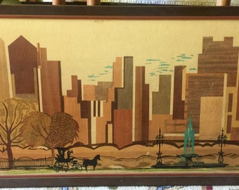 Framed Mid Century Town & Country Print