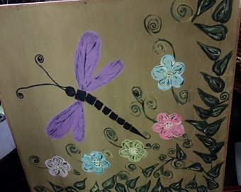 Fly Dragonfly Painting