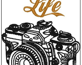Capture Life 6X10 Embroidery file