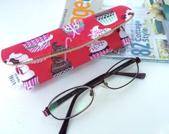 Cupcake eyeglass hard case