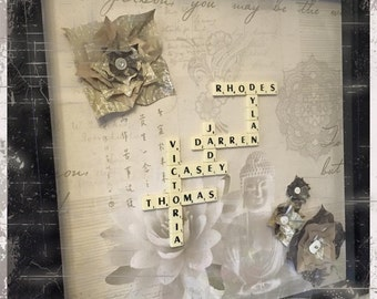Scrabble word art