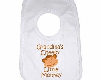 Grandmas Cheeky Little Monkey Baby Bib